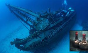 vino naufragado de 350 años de antigüedad descubierto en el Mar del Norte. Fuente: Wojciech / Christie's.