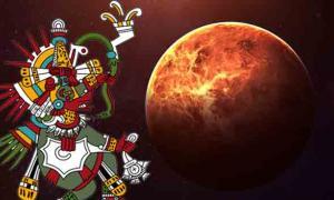 Venus (Vadimsadovski / Adobe Stock) era un símbolo de muerte y resurrección para los antiguos mesoamericanos y vincularon el planeta a la historia de Quetzalcóatl. (Eddo / CC BY 3.0)