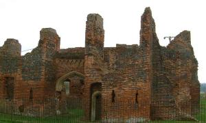 Capilla del Castillo de Someries en Luton, Inglaterra.