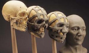 La reconstrucción del cráneo de la momia. (friendsofpast.org)