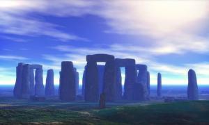Stonehenge al atardecer, una vista que será arruinada por el nuevo túnel según los druidas de Stonehenge que protestan por el proyecto.