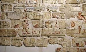 Talatat reconstruido de Gempaaten, recuperado del núcleo del noveno pilón del templo de Amón - Museo de Arte Egipcio Antiguo de Luxor. (Jon Bodsworth / Dominio público)