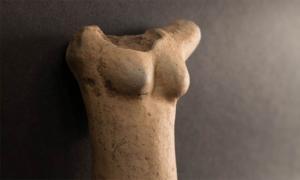 Frente de la pieza principal de la estatuilla Venus de Egerszeg de la Edad de Piedra recientemente desenterrada en Hungría. Fuente: Museo Göcsej