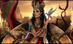 'Semiramis': una representación moderna de la diosa sumeria Inanna. A cargo de la fertilidad, el sexo y la guerra, Inanna era una de las diosas más violentas del mundo antiguo.