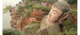 El gran Buda de Leshan es la estatua de Buda tallada en piedra más grande del mundo