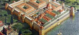 Representación artística del Palacio de Diocleciano, Croacia