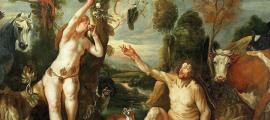 Portada - 'Adán y Eva' (c. 1640) óleo de Jacob Jordaens. Fuente: Dominio público
