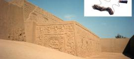 Portada-La ciudad de Chan Chan, en Perú (Wikimedia Commons). Detalle: El enigmático y antiguo aparato de comunicación Chimú. Imagen: Museo Nacional Smithsoniano de los Indios Americanos.