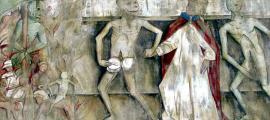 Portada-Danza Macabra: La Muerte llevándose al Papa al infierno, relieve del Karner de Metnitz (Austria). (Public Domain)