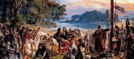 Portada - 'Introducción del cristianismo en Polonia', óleo de Jan Matejko, 1888-89, Museo Nacional de Varsovia. (Public Domain)