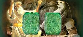 Portada - Fotocomposición. Enoc, Thot y Tabla Esmeralda (Código Oculto)