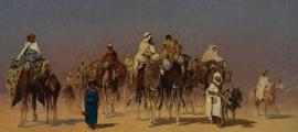 Portada - 'La caravana del desierto', óleo de Edmund Berninger.