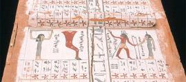 Detalle de una tabla astronómica del antiguo Egipto datada en el Imperio Medio. Fuente: GPL