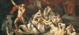 Portada - Caronte cruza el río Estigia transportando en su barca las almas de los difuntos, óleo de Alexander Litovchenko. (1889) (Public Domain)