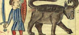 Portada - Ilustración de un bonacon en un bestiario medieval. Fuente: Dominio público