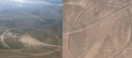 Portada - Fotografías obtenidas vía satélite de los llamados círculos J1 y J2 descubiertos en Jordania. (Imágenes: Código Oculto)