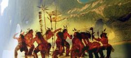 Portada - Sleeping Giant ('Gigante Durmiente') (CC BY-SA 3.0), nativos americanos Ojibwe danzando en la nieve, ilustración de George Catlin (Public Domain)