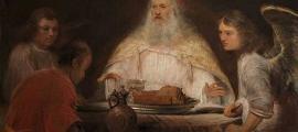 Portada - 'Abraham y los ángeles', óleo de Aert de Gelder (Wikipedia). Según el Génesis, Abraham vivió hasta la edad de 175 años.
