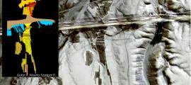 """Portada - Imagen vía satélite del geoglifo gigante al que Alberto Nadgar Rojas ha bautizado como """"Rey Mallku"""" junto a la representación gráfica del mismo. (Fotografía cortesía de Alberto Nadgar Rojas)."""