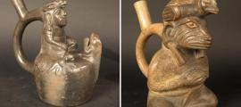 Portada - Cara Arrugada e iguana. Fotografías: Museo Chileno de Arte Precolombino.