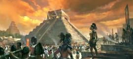 Portada - Ilustración en la que se observan rituales y ofrendas de los mayas a sus dioses. (Código Oculto)
