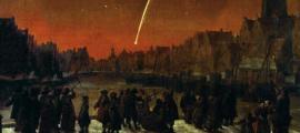 Portada - 'Cometa de 1680 sobre Rotterdam', pintura de Lieve Verschuier. Fuente: Dominio público