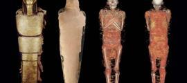 Portada - El análisis de las imágenes obtenidas mediante tomografía computarizada ha revelado que una momia egipcia del Museo Arqueológico Nacional de Madrid no es de una mujer como se creía hasta ahora, sino de un sacerdote llamado Nespamedu. Fuente: MAN