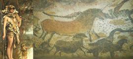 Portada - 'La femme Préhistorique' (La mujer prehistórica), óleo de James Tissot (1895) (Public Domain) Reproducciones de algunas de las pinturas rupestres de Lascaux realizadas en Lascaux II.(Jack Versloot/CC BY 2.0)
