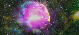 Portada - Restos de una supernova (IC 443), imagen captada por la NASA. (Dominio público)