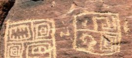 Cartela de petroglifos de Arizona (Cortesía de John Ruskamp)