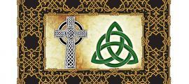 Portada - Entramado de nudos celta (Public Domain), cruz céltica (Public Domain) y triqueta (Public Domain)