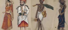 Portada - Ilustraciones del manuscrito 'Setenta y dos especímenes de castas de India'. (Dominio público & Dominio público)