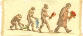 Portada - Dibujo humorístico acerca de la evolución del ser humano. (La Gran Época)