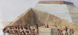 Portada - ilustración que representa la construcción de las pirámides egipcias (TES Teach)