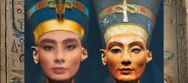 Reconstrucción facial de Nefertiti.