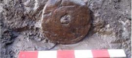Tapa de mantequera del Período Sajón, descubierta en Norton Bridge.
