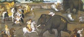 La dinastía Badami Chalukyas llegó a controlar vastas extensiones de tierra en el sur y el centro de la India desde aproximadamente el 543 d.C. hasta el 753 d.C. Imagen representativa de una época más moderna.
