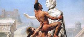 """engañoso siglo XIX que representa el saqueo de Roma de los visigodos """"bárbaros"""" en la Antigüedad tardía Fuente: Dominio público"""