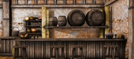 Ilustración de una taberna antigua. Crédito: Chorazin / Adobe Stock