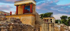 El palacio de Knossos, Creta.