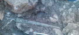 Se ha encontrado una espada de la civilización talaiótica en Mallorca, España. Fuente: Diario de Mallorca