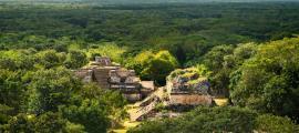 Sitio arqueológico maya Ek Balam. Ruinas mayas, península de Yucatán. Crédito: bobiphil/ Adobe Stock