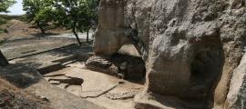 Colina de Hegmataneh, ciudad de Hamadan, Irán, donde se hicieron los nuevos descubrimientos del Imperio Mediano iraní Fuente: IRNA