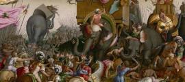 La historia de los bereberes y el reino de Numidia es compleja. Durante la Batalla de Zama, representada aquí, la caballería númida actuó como mercenarios ayudando a los romanos a afianzarse en la región.