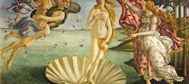 El nacimiento de Venus, una pintura icónica del Renacimiento italiano, del pintor del Renacimiento temprano Sandro Botticelli. Fuente: dominio público