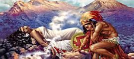 La leyenda de Popocatépetl e Iztaccíhuatl. Fuente: Inside Mexico