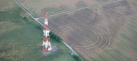 el contorno del antiguo sitio ritual era visible desde el aire. Fuente: Captura de pantalla de YouTube