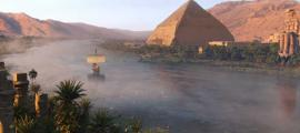 reconstrucción digital del río Nilo de Assassin's Creed Origins. Crédito: Ubisoft