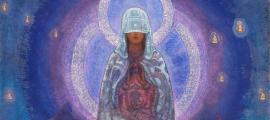 'Madre velada del mundo' (Deriv.) (1930) del esotérico ruso Christian Nicholas Roerich.