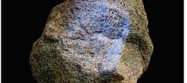 Cabeza de estatua de Yamacutah con nítido pigmento azul. Imagen cedida por: Jordan Blyden